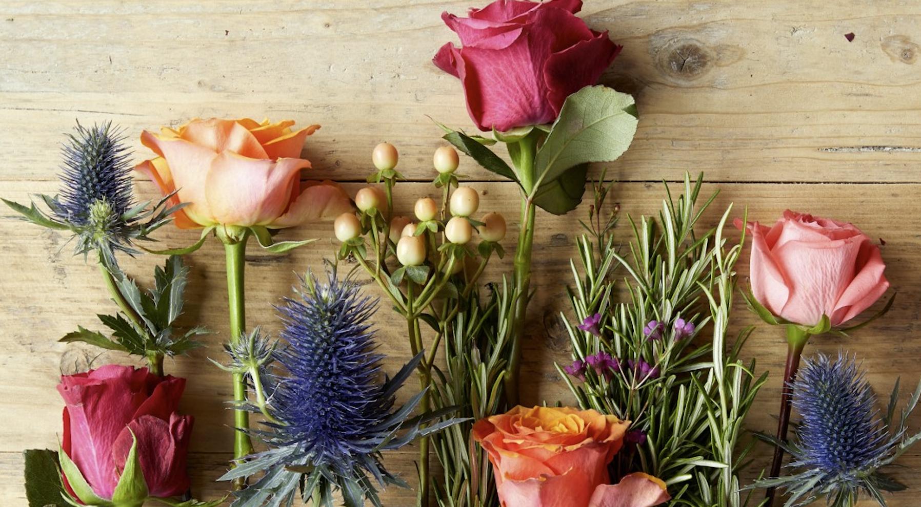Blumen binden selbst