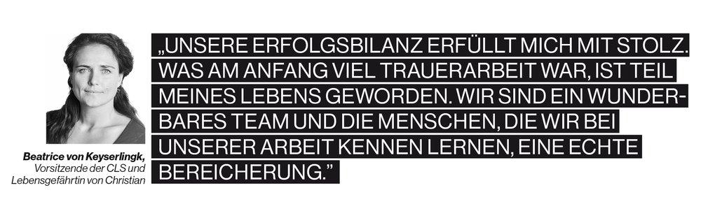 Zitat von Beatrice von Keyserlingk, Vorsitzende der CLS